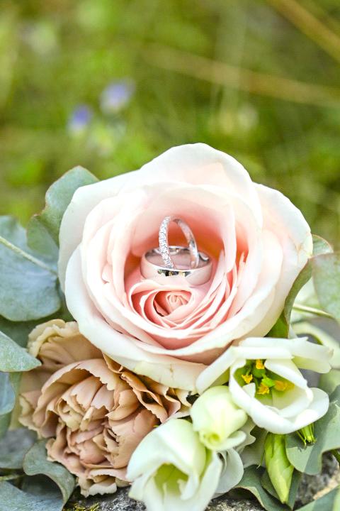 Brudbuketten från bröllopet